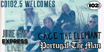 CD102.5 Welcomes Cage the Elephant and Portugal. The Man with Twin Peaks @ Express Live! - Outdoors