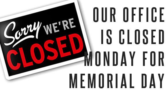 Closed - Memorial Day