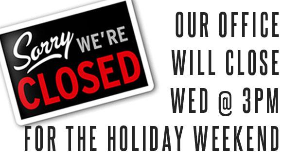 Closed 11/17 - 11/22