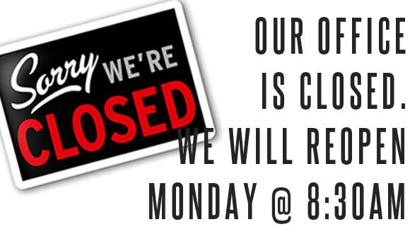 Closed 11/22 - 11/26