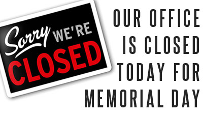 Closed - Memorial Day (Today)
