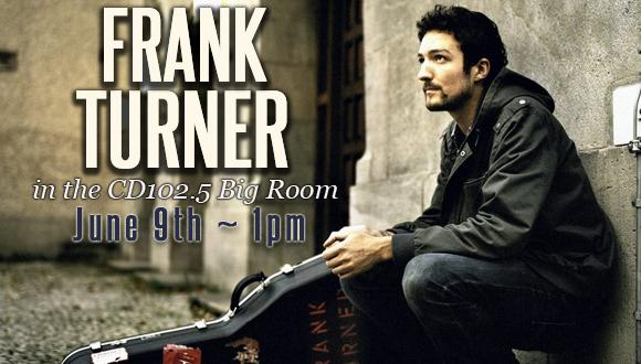 Frank Turner in the CD102.5 Big Room